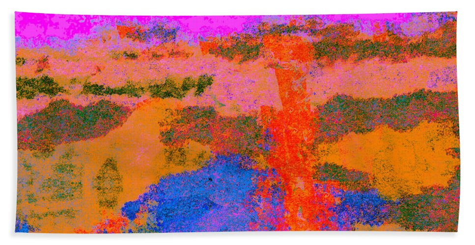 Abstract Bath Sheet featuring the digital art 0173 Abstract Thought by Chowdary V Arikatla