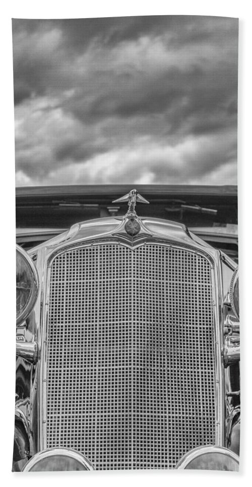 Antique Hand Towel featuring the photograph 1934 Vauxhall by Jack R Perry
