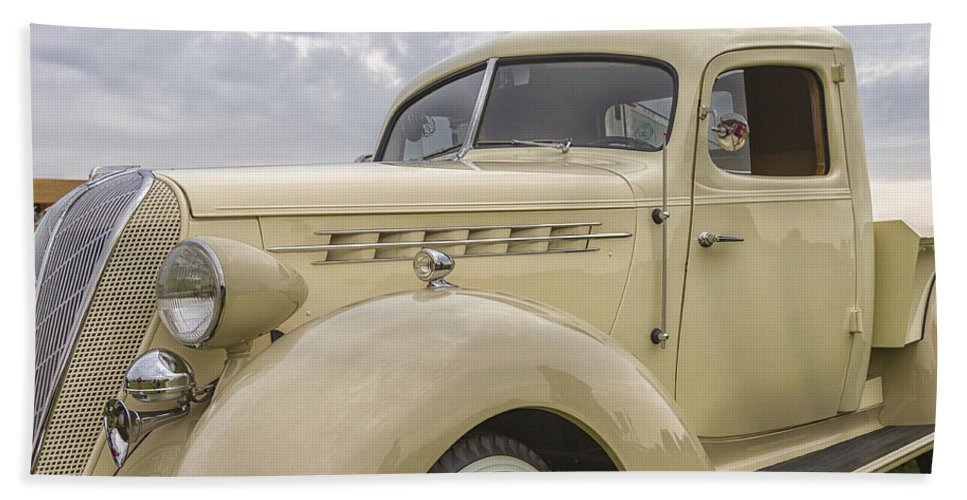 Antique Hand Towel featuring the photograph 1936 Hudson Terraplane Truck by Jack R Perry