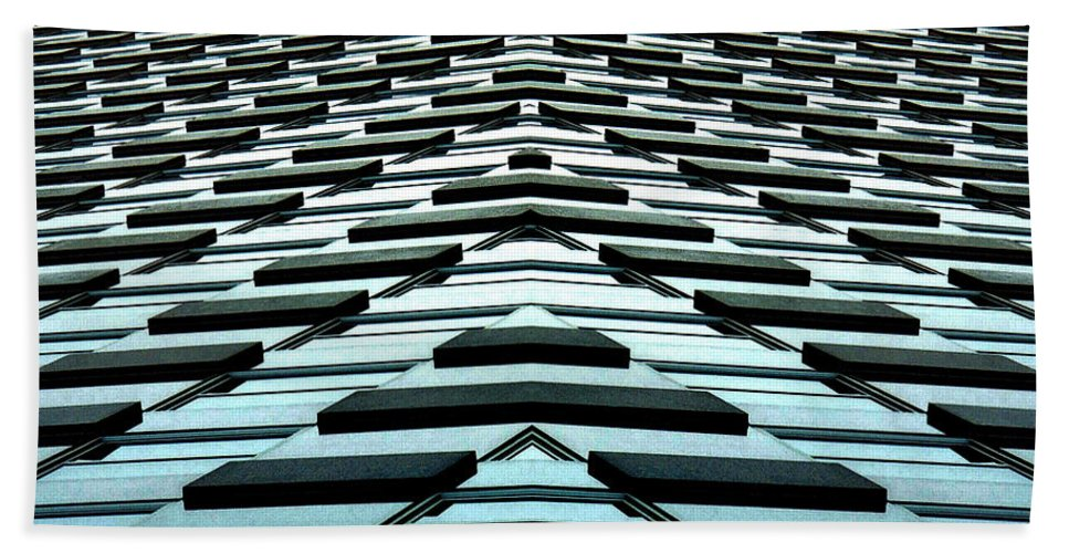 Original Hand Towel featuring the photograph Abstract Buildings 1 by J D Owen