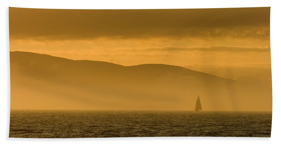 Sunset Bath Sheet featuring the photograph Acadia National Park Sunset by Sebastian Musial