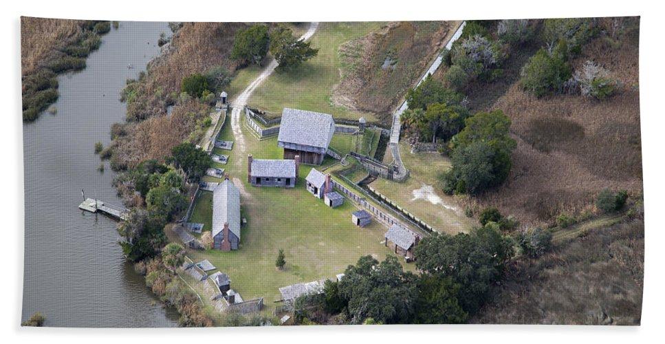 Jekyll Hand Towel featuring the photograph Aerial Near Jekyll Island by Betsy Knapp
