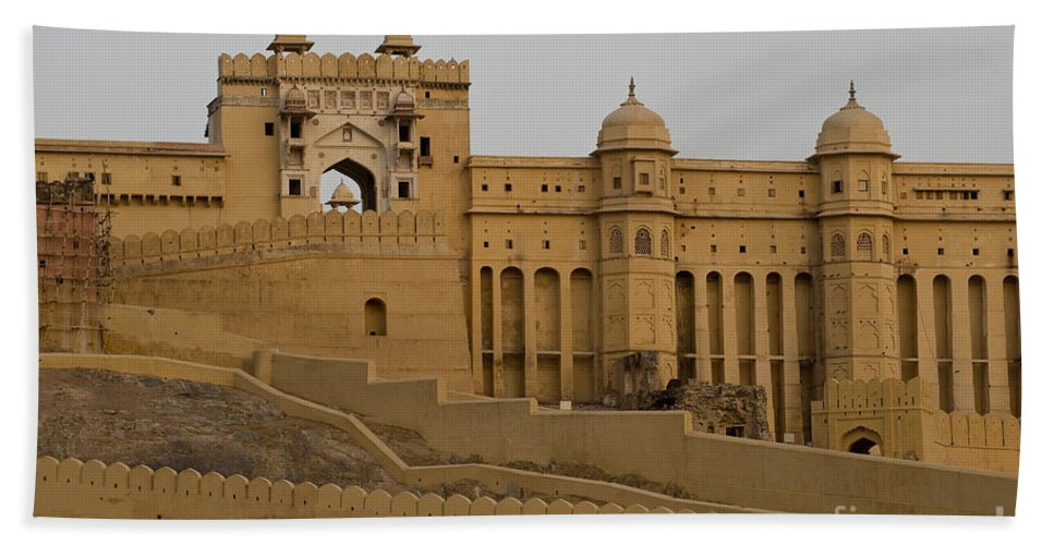 Amber Fort Bath Sheet featuring the photograph Amber Fort, India by John Shaw