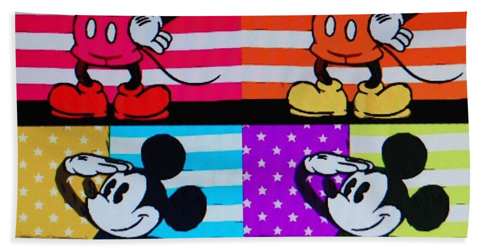 Mickey Mouse Bath Sheet featuring the photograph American Mickey by Rob Hans