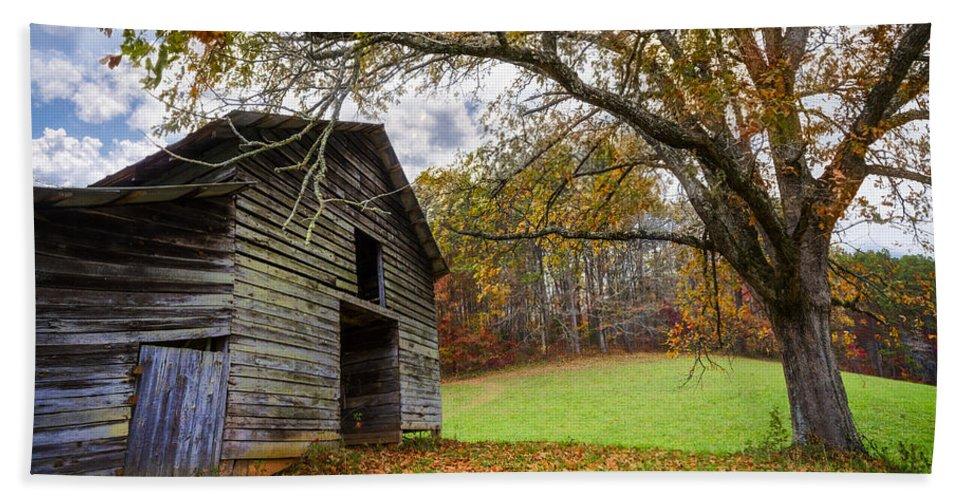 Appalachia Hand Towel featuring the photograph Appalachian Autumn by Debra and Dave Vanderlaan
