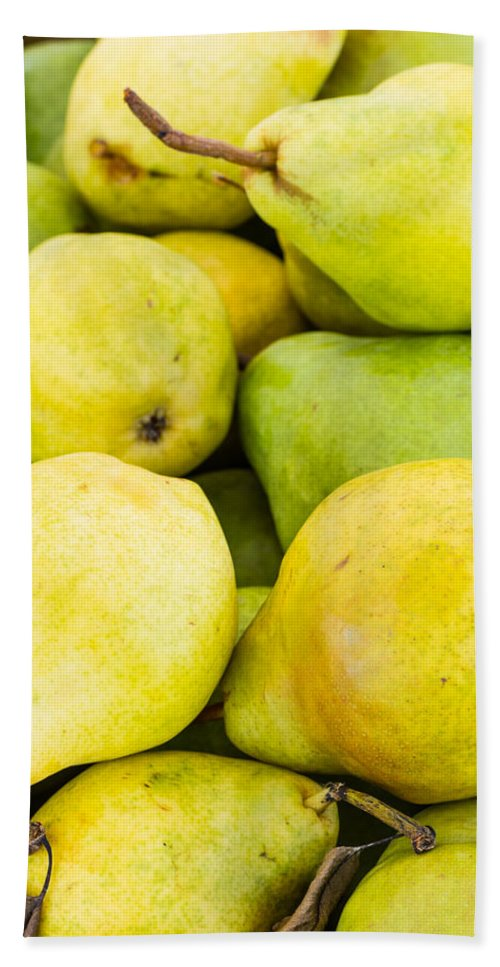 Agriculture Bath Sheet featuring the photograph Bartlett Pears by John Trax