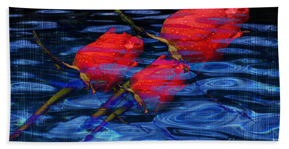 Rose Image Hand Towel featuring the digital art Be Mine by Yael VanGruber