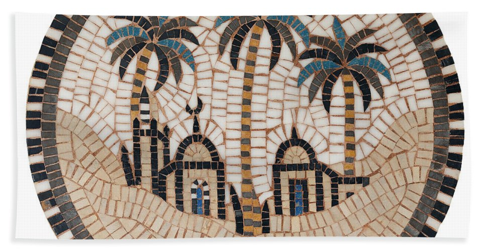 Mosaic Hand Towel featuring the photograph Bedouin Hut by Paul Fell