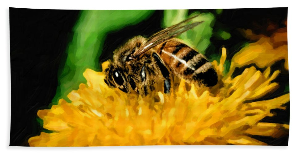 Bee Hand Towel featuring the photograph 2 Bee Or Not 2 Bee by Jon Burch Photography