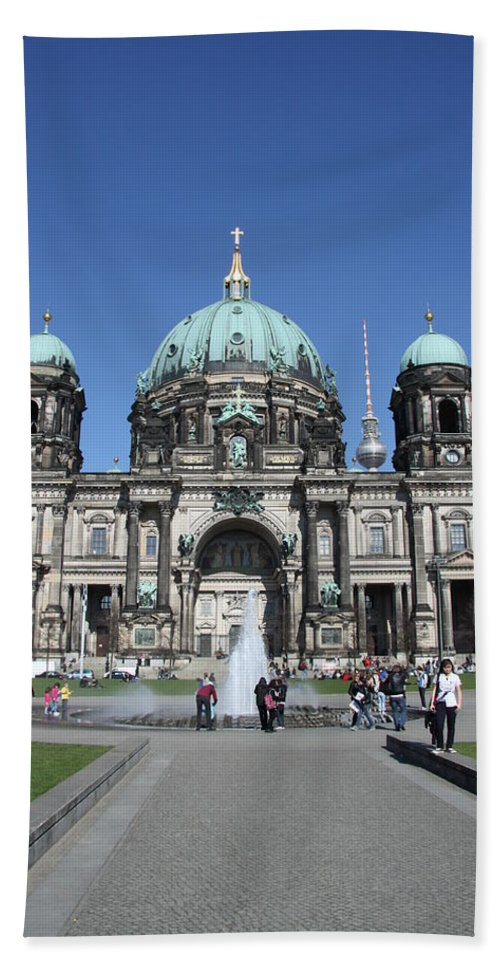 Cathedral Hand Towel featuring the photograph Berliner Dom by Christiane Schulze Art And Photography