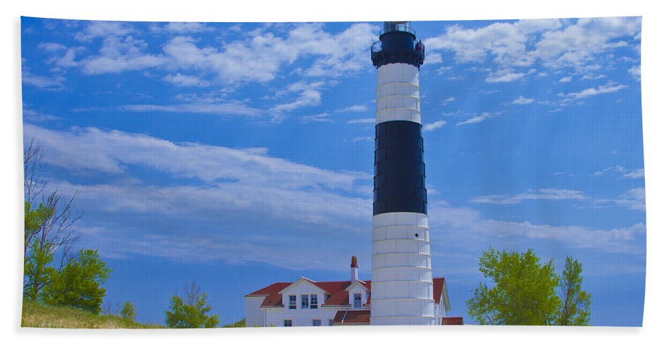 Architecture Bath Sheet featuring the photograph Big Sable Point Lighthouse by Jack R Perry