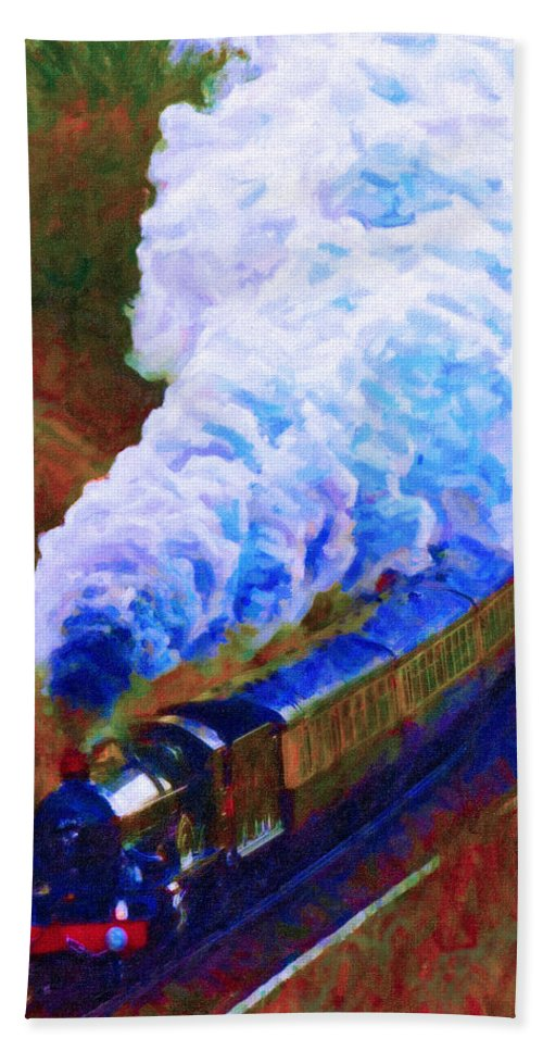 Poster Hand Towel featuring the digital art Billowing by Chuck Mountain