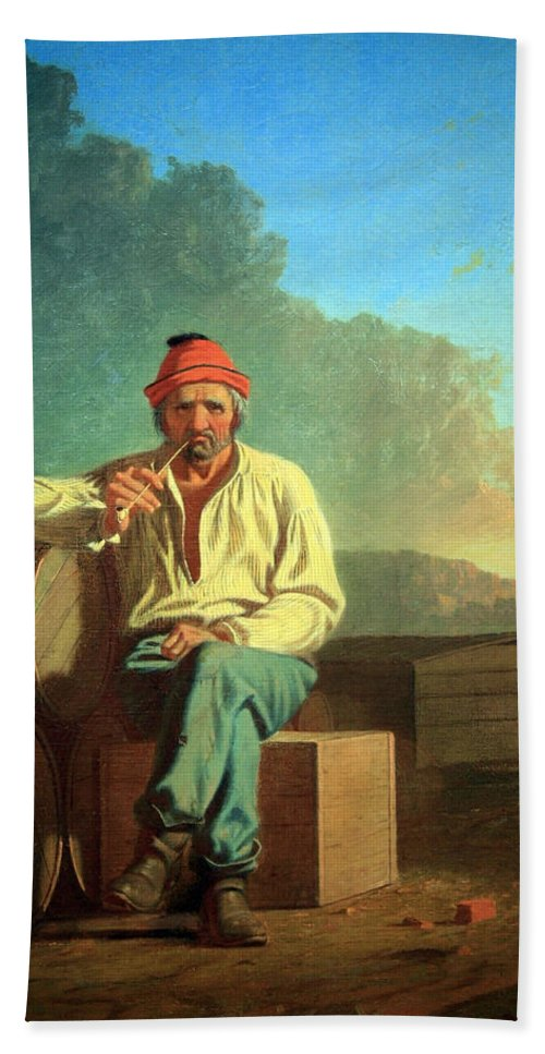 Mississippi Bath Sheet featuring the photograph Bingham's Mississippi Boatman by Cora Wandel
