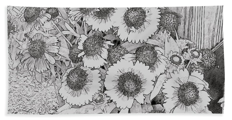 Black Eyed Susans Bath Sheet featuring the photograph Black Eyed Susans by Alice Gipson