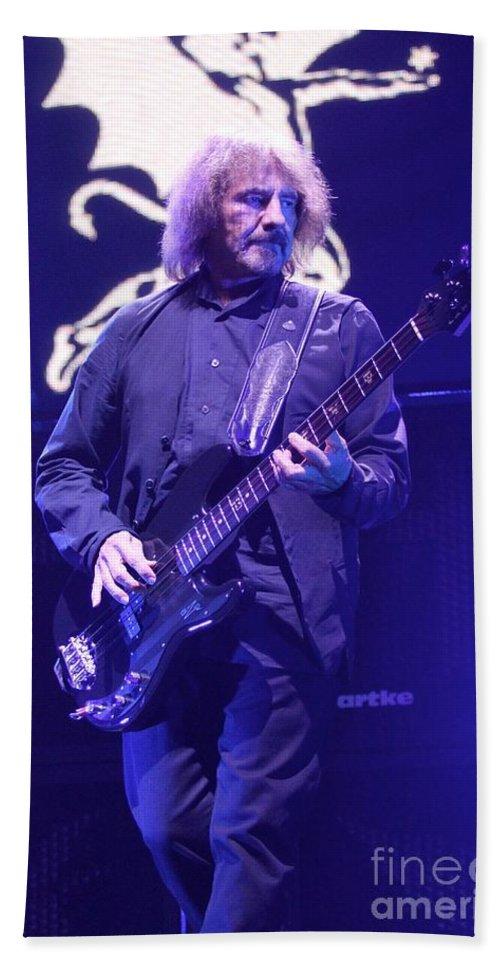 Bassist Bath Sheet featuring the photograph Black Sabbath by Concert Photos