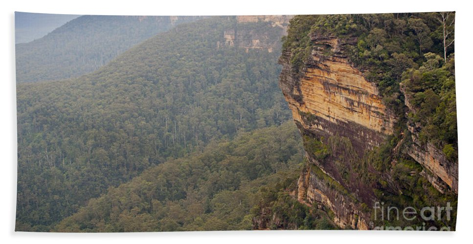 Australia Bath Sheet featuring the photograph Blue Mountains Australia by Tim Hester