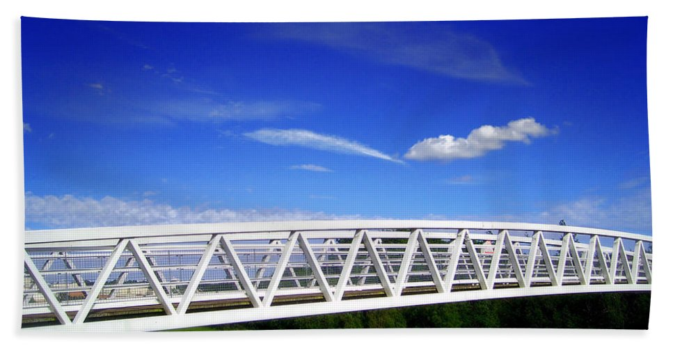 Bridge Hand Towel featuring the photograph Bridge by Nina Ficur Feenan