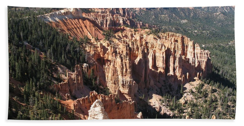Mountains Bath Sheet featuring the photograph Bryce Canyon Overlook by Christiane Schulze Art And Photography