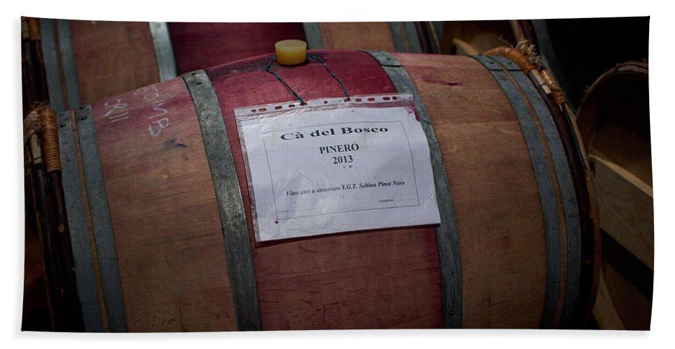 Francacorta Bath Sheet featuring the photograph Ca Del Bosco Winery. Franciacorta Docg by Jouko Lehto