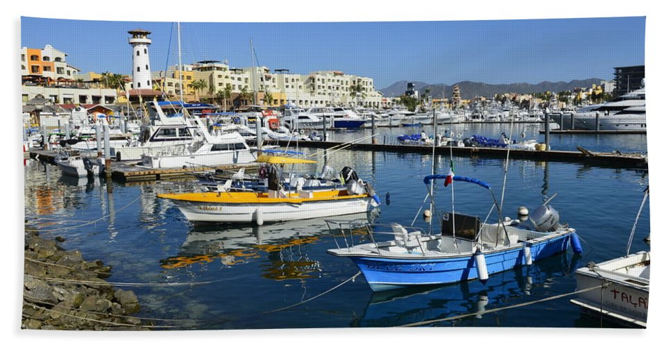 Cabo San Lucas Hand Towel featuring the photograph Cabo San Lucas by Yinguo Huang