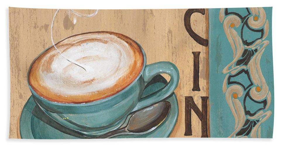Food Hand Towel featuring the painting Cafe Nouveau 1 by Debbie DeWitt