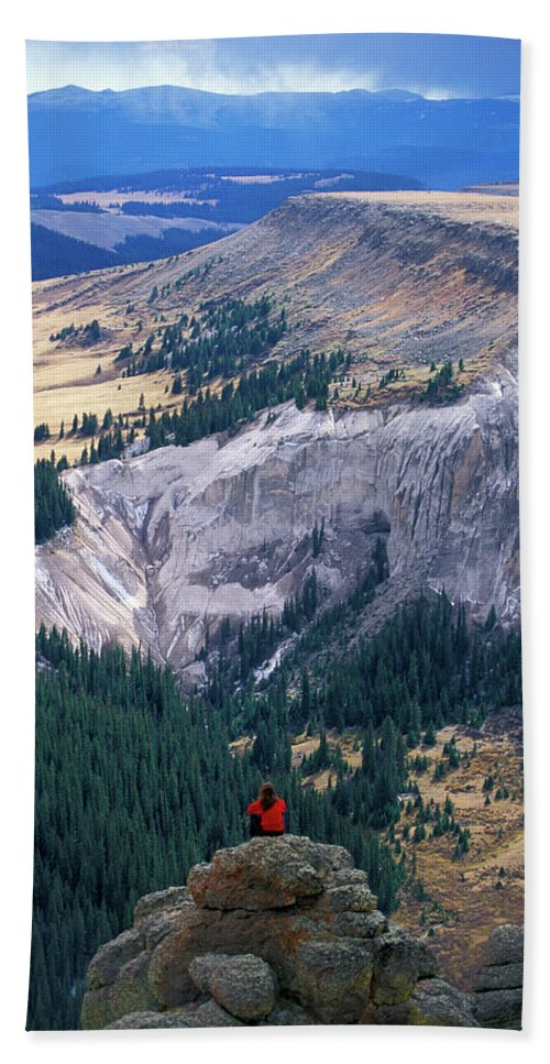Backpack Bath Sheet featuring the photograph Camping On The Colorado Trail by Peter McBride