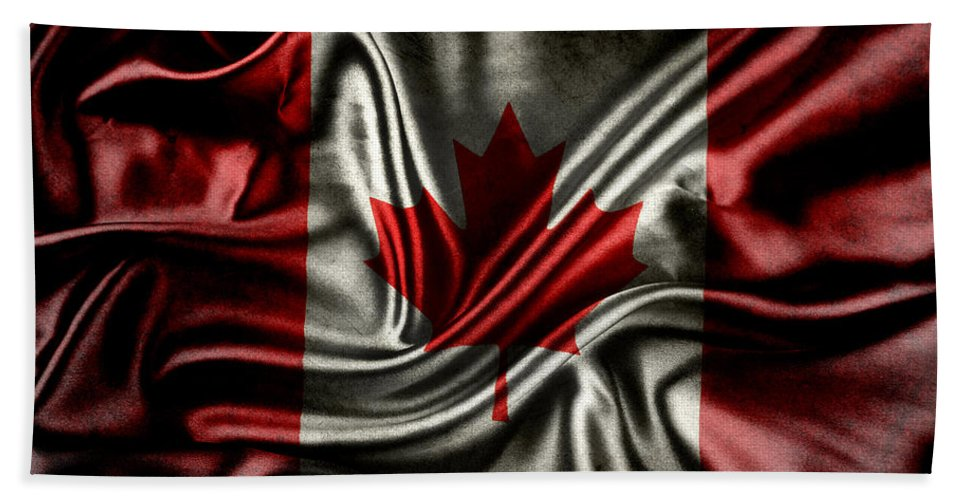 Flag Hand Towel featuring the photograph Canadian Flag by Les Cunliffe