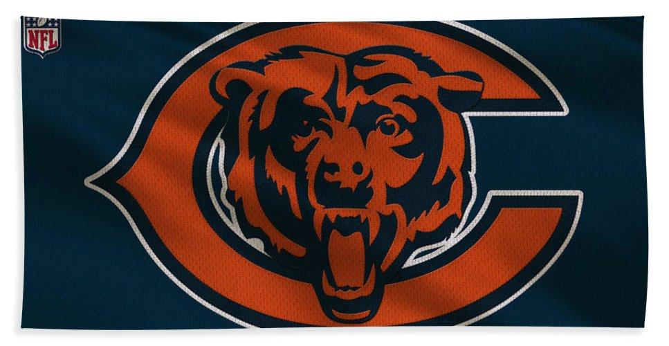 Bears Bath Towel featuring the photograph Chicago Bears Uniform by Joe Hamilton