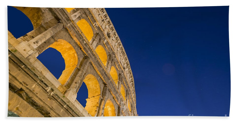 Colosseum Hand Towel featuring the photograph Colosseum by Mats Silvan