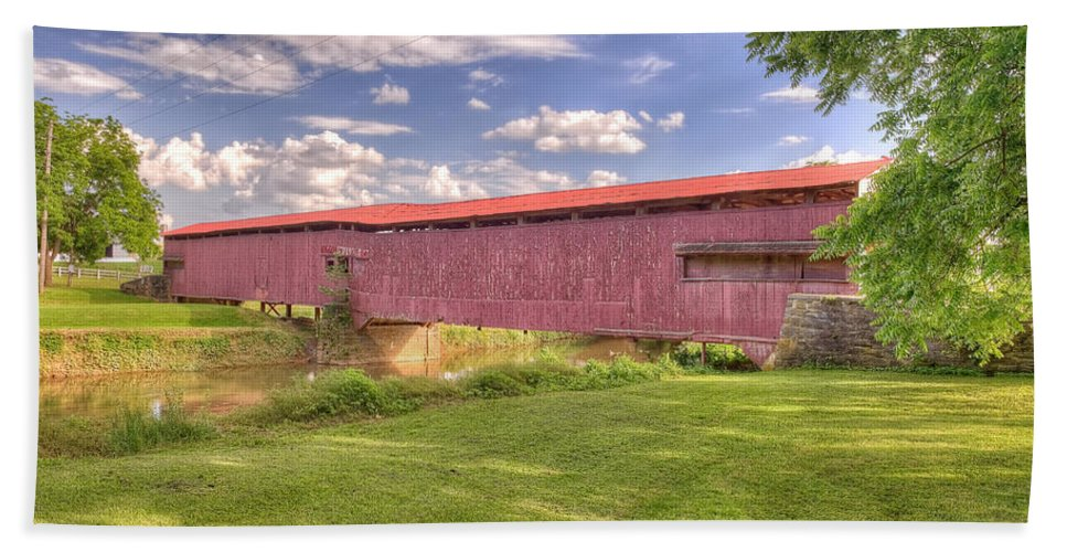 Bridges Hand Towel featuring the photograph Covered Bridge by Jim Thompson
