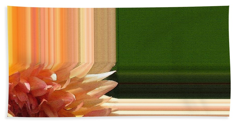 Mccombie Bath Sheet featuring the painting Dahlia Named Intrepid by J McCombie