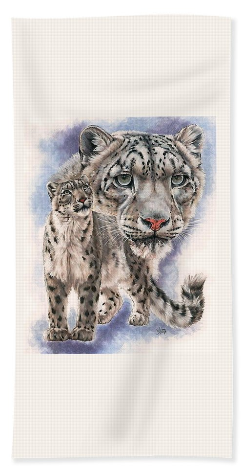 Big Cat Hand Towel featuring the mixed media Dazzler by Barbara Keith