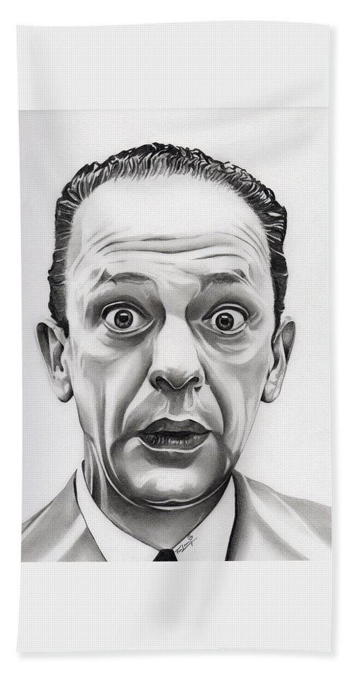 Don Knotts Bath Sheet featuring the drawing Deputy Barney Fife by Fred Larucci