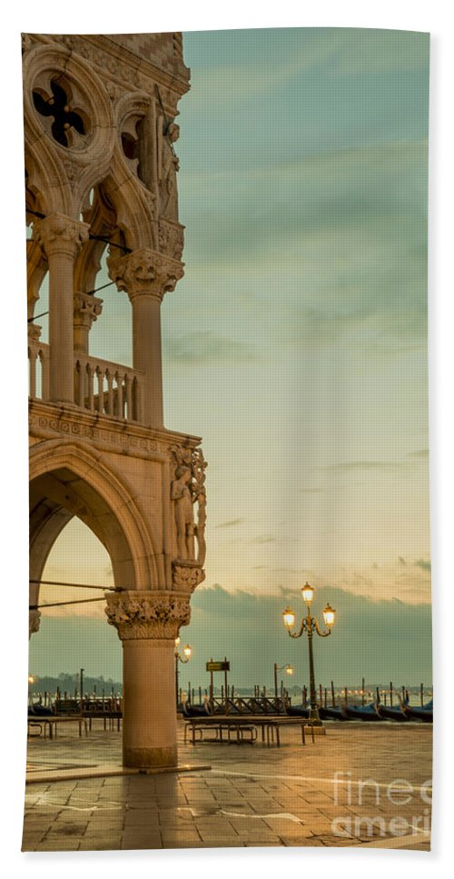 Ducale Bath Sheet featuring the photograph Doge's Palace by Mats Silvan