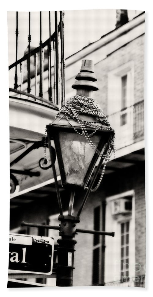 Gas Lamp Hand Towel featuring the photograph Dressed For The Party - Expresso Toned by Scott Pellegrin