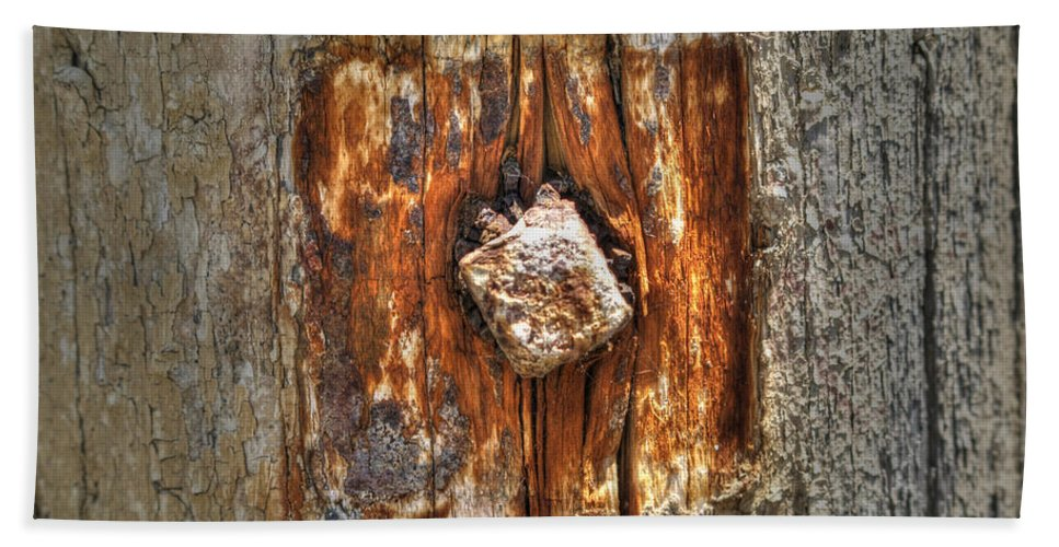Driftwood Hand Towel featuring the photograph Driftwood by Jacklyn Duryea Fraizer