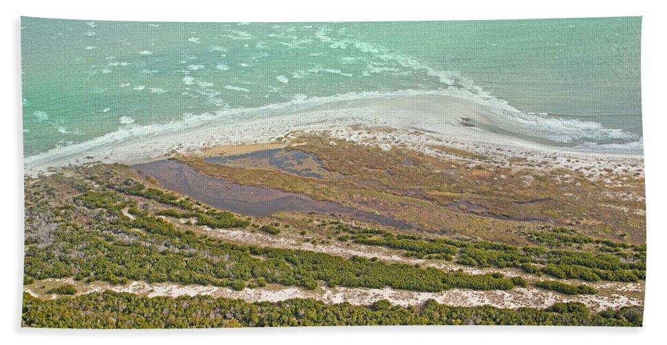 Jekyll Hand Towel featuring the photograph East Coast Aerial Near Jekyll Island by Betsy Knapp