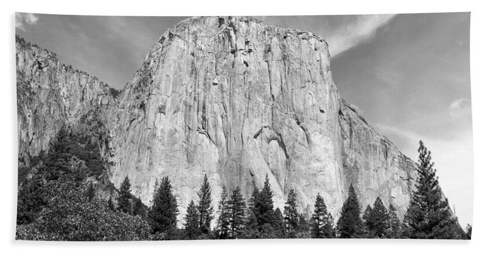 Landscape Bath Sheet featuring the photograph El Capitan by John M Bailey
