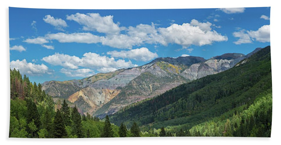 Photography Bath Sheet featuring the photograph Elevated View Of Trees On Landscape by Panoramic Images