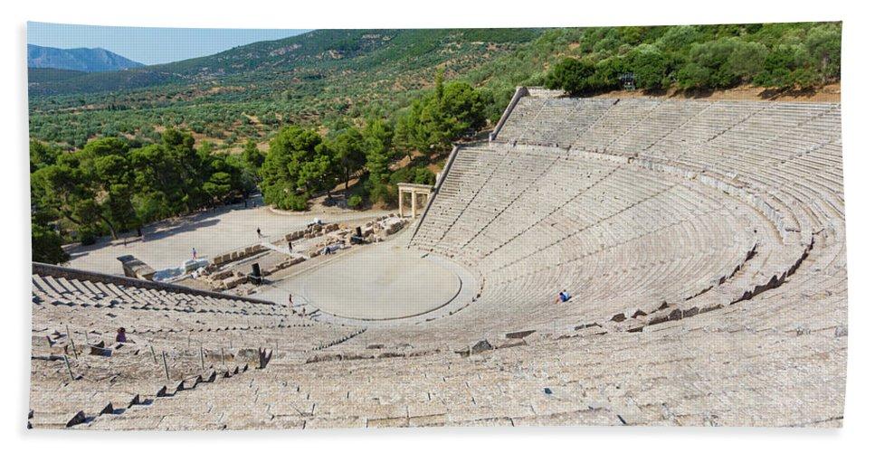 Photography Bath Sheet featuring the photograph Epidaurus, Argolis, Peloponnese by Panoramic Images