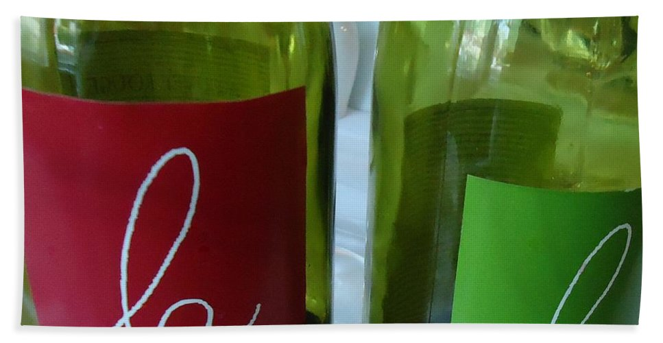 Wine Hand Towel featuring the photograph Falalalala by Barbie Corbett-Newmin