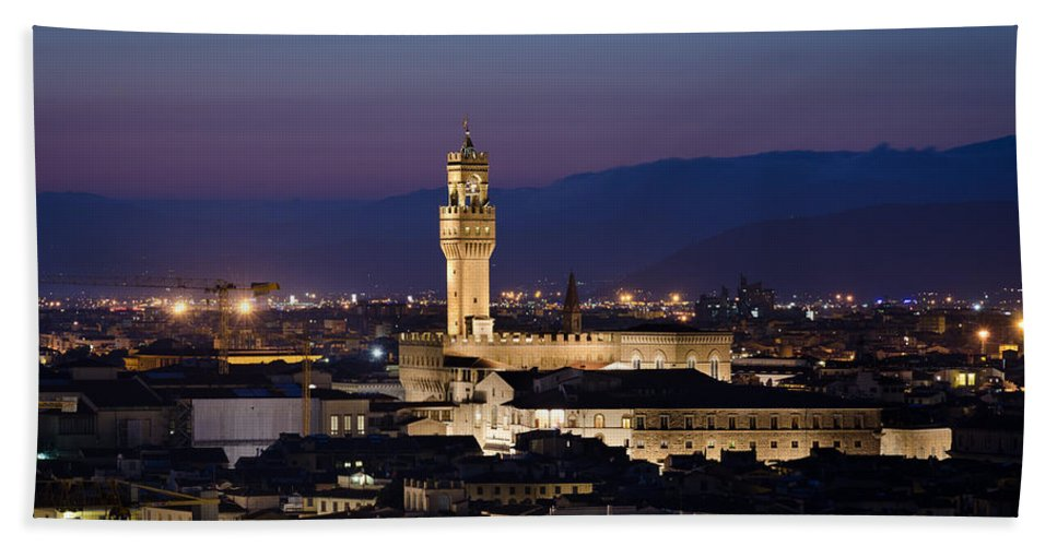 Tourist Hand Towel featuring the photograph Florence At Sunset by Pablo Lopez