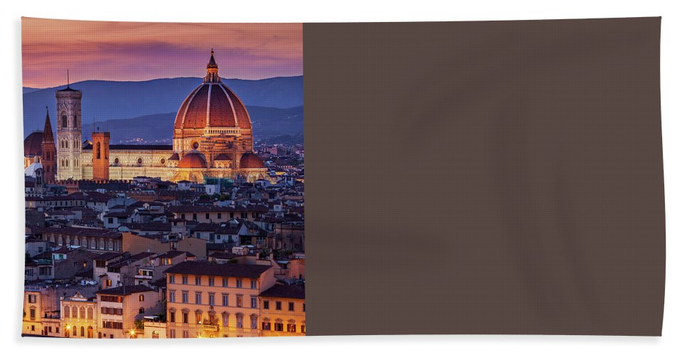 Architectural Hand Towel featuring the photograph Florence Duomo by Brian Jannsen