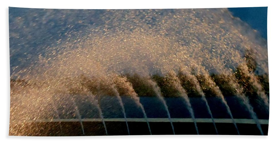 Color Bath Sheet featuring the photograph Fountain 2 by Amar Sheow