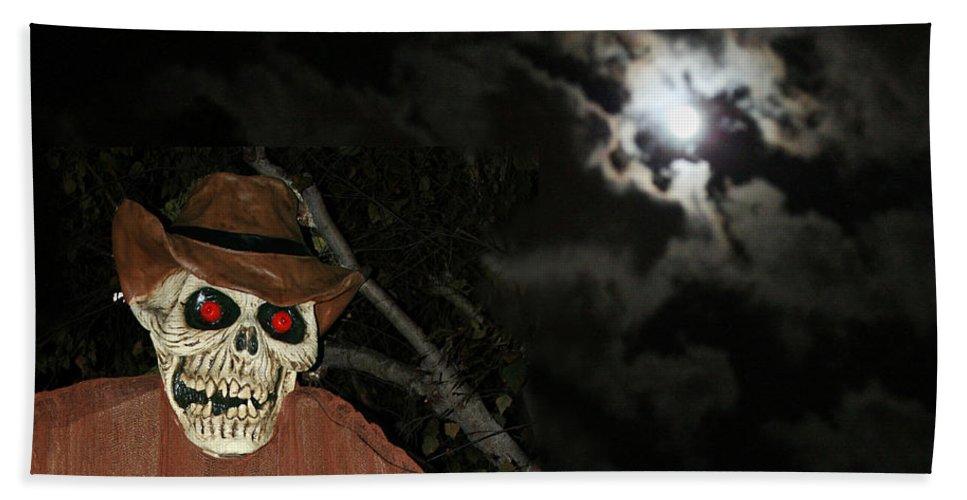 Fright Night Bath Sheet featuring the photograph Fright Night 1 by Ellen Henneke