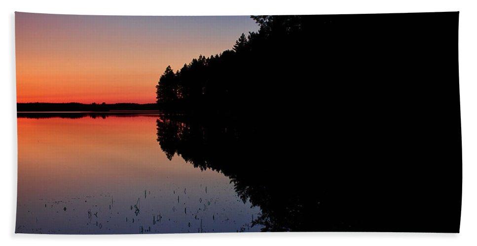 Lehto Bath Sheet featuring the photograph Froggy Sunset by Jouko Lehto