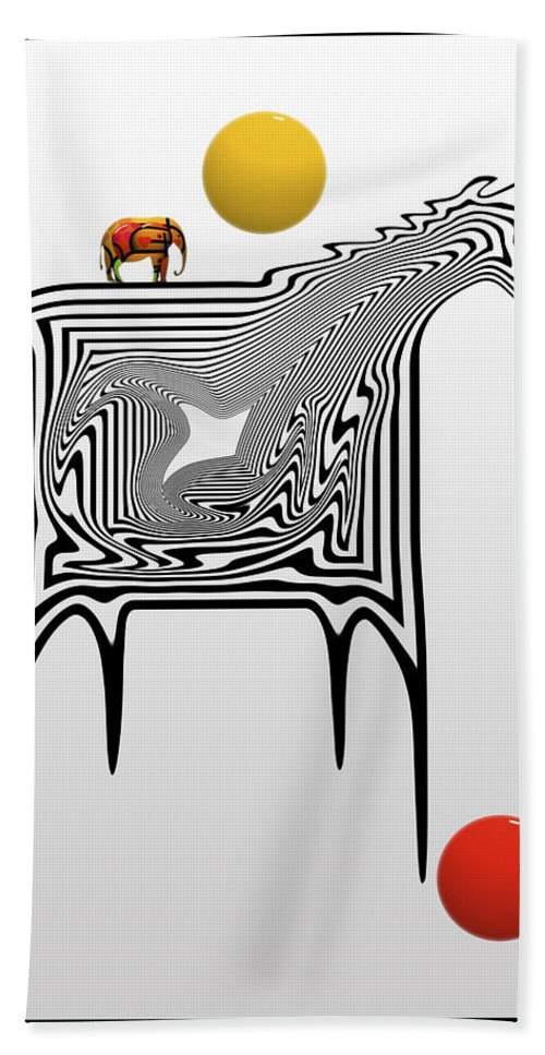 Zebra Hand Towel featuring the painting Game by Charles Stuart