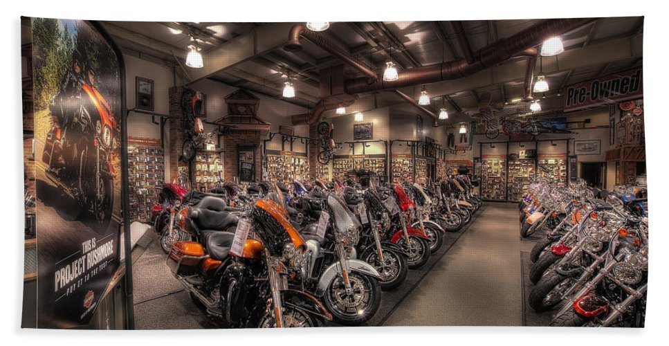 Harley Davidson Bath Sheet featuring the photograph Harley Davidson by David B Kawchak Custom Classic Photography