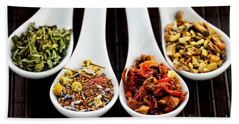Tea Bath Sheet featuring the photograph Herbal Teas by Elena Elisseeva
