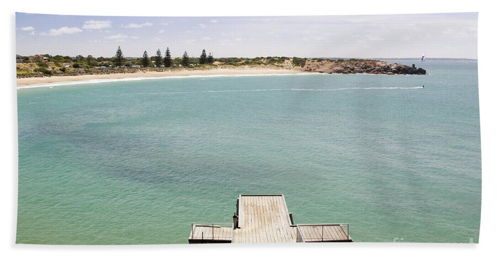 South Australia Bath Sheet featuring the photograph Horseshoe Bay South Australia by Tim Hester